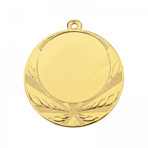 Medailles Goudkleurig medaille 70 mm