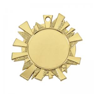 Medailles Goudkleurig medaille 43x45 mm