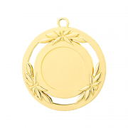 Medailles Goudkleurig medaille 50 mm