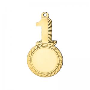 Medailles Goudkleurig medaille 34x65 mm