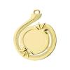 Medailles Goudkleurig medaille 50x57 mm