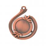 Medailles Bronskleurig medaille 50x57 mm