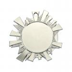 Medailles Zilverkleurig medaille 43x45 mm