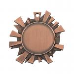 Medailles Bronskleurig medaille 43x45 mm
